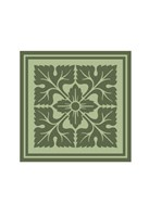 Tonal Woodblock in Green IV Fine Art Print