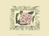 """Tropical Flowers in Bamboo II (horizontal) by Chariklia Zarris - 9"""" x 7"""""""