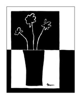 "Minimalist Flower in Vase II by Jennifer Goldberger - 11"" x 14"""