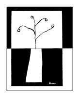 "Minimalist Flower in Vase III by Jennifer Goldberger - 11"" x 14"""