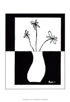 "Minimalist Flower in Vase IV by Jennifer Goldberger - 13"" x 19"""