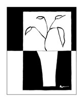 "Minimalist Leaf in Vase II by Jennifer Goldberger - 11"" x 14"""