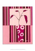 Minimalist Flowers in Pink II Fine Art Print