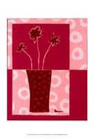 "Minimalist Flowers in Pink III by Jennifer Goldberger - 13"" x 19"""