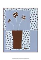 "Minimalist Flowers in Blue I by Jennifer Goldberger - 13"" x 19"""