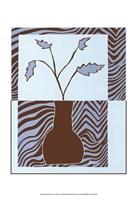 """Minimalist Flowers in Blue II by Jennifer Goldberger - 13"""" x 19"""""""