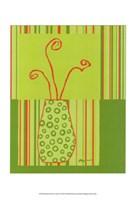Minimalist Flowers in Green II Fine Art Print