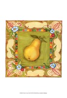 French Country Pear Framed Print