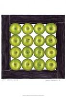 "Green Apples Cubed by Jennifer Goldberger - 13"" x 19"", FulcrumGallery.com brand"