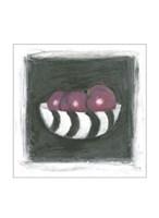 "Plums in Bowl by Chariklia Zarris - 8"" x 8"""