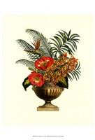 "Exotic Flowers in Urn (P) II by Chariklia Zarris - 9"" x 11"""
