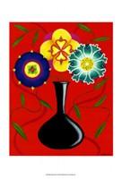 """Riki's Stylized Flowers I by Chariklia Zarris - 11"""" x 14"""" - $12.99"""