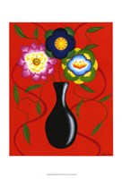 """Riki's Stylized Flowers II by Chariklia Zarris - 11"""" x 14"""" - $12.99"""