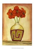 "Southwest Amaryllis (H) II by Jennifer Goldberger - 11"" x 16"""