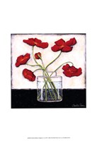 "Printed Modern Poppies II by Chariklia Zarris - 13"" x 19"""