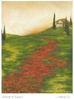 """Tuscany at Sunset I by Jennifer Goldberger - 13"""" x 16"""""""