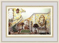 "Graceful Staircase Hall in the Carolinas by Mark Hampton - 11"" x 8"""