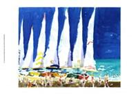 Sailboats on the Beach Fine Art Print