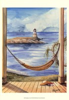 "Lighthouse View II by Jay Throckmorton - 13"" x 19"""