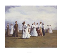 "Ladies Golf by Curney Nuffer - 36"" x 30"", FulcrumGallery.com brand"