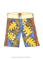Surf Shorts (CI) I Framed Print