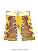Surf Shorts (CI) III Framed Print