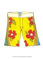 "Surf Shorts (CI) IV by Jennifer Goldberger - 8"" x 8"""