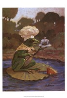 Cooking Frog Framed Print