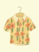 """Surf's up Shirt III by Jennifer Goldberger - 8"""" x 9"""""""