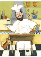 Jolly French Chef Fine Art Print