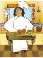 Jolly Mexican Chef Framed Print