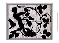 Child Silhouette II Framed Print