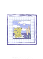 Frog with Plaid (PP) II Framed Print