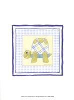 Turtle with Plaid (PP) III Fine Art Print