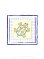 Turtle with Plaid (PP) IV Fine Art Print