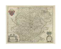 "Thvringia Map by Chariklia Zarris - 15"" x 11"""
