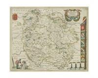 "Herefordia Map by Chariklia Zarris - 15"" x 11"""