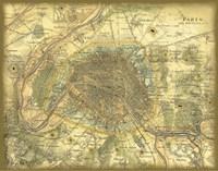 Map of Paris Fine Art Print