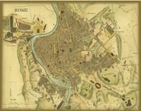 Map of Rome Fine Art Print