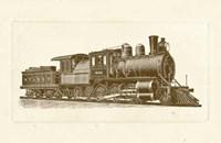 """Train Engine III by Chariklia Zarris - 16"""" x 8"""" - $13.49"""