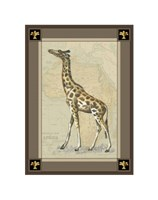 """Giraffe with Border I by Chariklia Zarris - 7"""" x 9"""""""