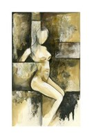 "Contemporary Seated Nude I by Jennifer Goldberger - 14"" x 24"" - $65.49"