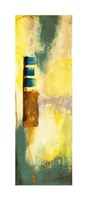 "Aquamarine Aura VI by Jennifer Goldberger - 12"" x 36"", FulcrumGallery.com brand"