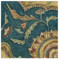 "Lapis Paisley I by Chariklia Zarris - 24"" x 24"", FulcrumGallery.com brand"