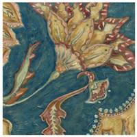 Lapis Paisley III Framed Print