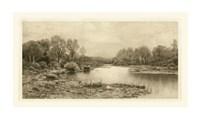 "Tranquil Riverscape IV by Laura Denardo - 34"" x 19"""