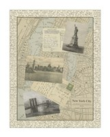 "Vintage Map of New York by Vision Studio - 20"" x 26"""