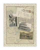 Vintage Map of Rome Giclee