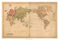 "36"" x 24"" Antique Map Prints"