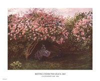 Resting under the Lilacs Fine Art Print